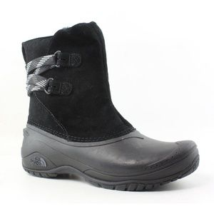 North Face Womens Shellista Pull On Black Boots 9